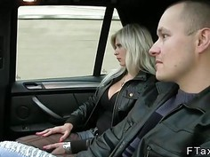 Dude shooting wife fucking in taxi