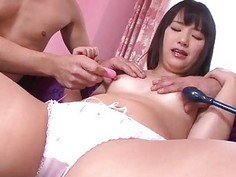 Tsuna Kimura amazing scenes of raw threesome sex