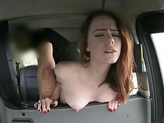 Sexy passenger gets pounded and jizzed