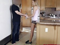 Charming Hollie Mack gets banged in a kitchen roughly