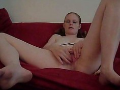 home alone bored gf playing with herself