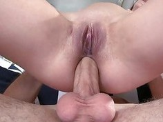 Darling gives oralsex before rough anal drilling