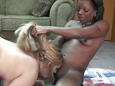 Savanna Knight gets fucked by an ebony slut