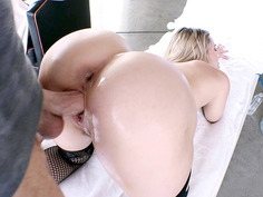 Mia Malkova enjoys a doggystyle pounding that stretches her twat