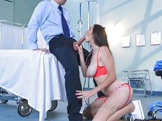 Doctor Keiran bangs hard and deep in her pussy and ass