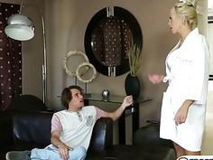 Wonderful massage by oil big tits