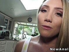 Blonde cheating husband with anal fuck