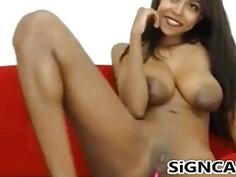 Amazing ebony With big Tits Masturbating