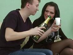 Slutty bitch enjoys a very hard sex with a strange