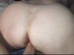 Hardcore doggy style ends with a big sticky creampie