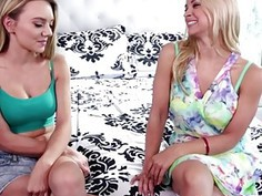 Sarah Vandella and Molly doing a scissor and unleash climax