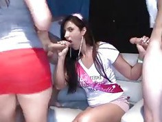 Bachelorette party goes Crazy with blowjobs