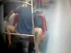 Amateur couple caught having sex in public