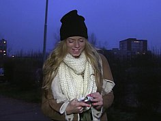Weather is cold, the girl is hot