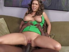 Busty Alex Chance gets her pussy filled with BBC