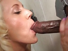 Kacey Villainess Sucks and Fucks Gloryhole BBCs
