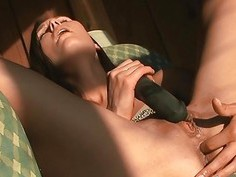Avia mature anal masturbating hard toy clit