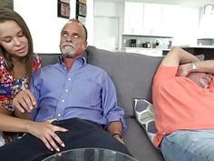 Liza Rowe got pounded hard by dad's friend