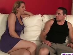Blonde MILF Roxanne Hall Helps Young Slut Brooklyn JoLeigh Cum During Hard Three Way Sex