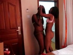 Amateur African Lesbians Dildo Toy Fucking