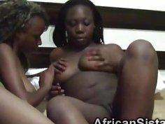 Amateur African lesbians licking juicy cunts