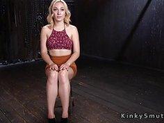 Anal hooked blonde sub pussy toyed