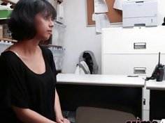 Penelope Reed getting her throat fucked hard inside the office