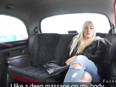Fake taxi driver massages and fucks babe
