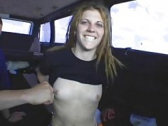 Sweetheart starves for sex in a car