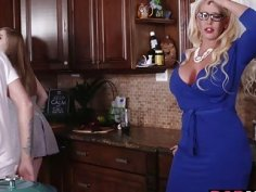 Dolly and Alura both drilled by a giant dick