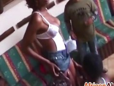 African hotties pleasing throbbing cocks at party
