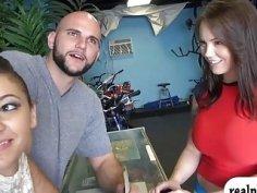 Massive boobs tattooed woman gets drilled by hunk man
