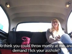 Blonde gets pounding in fake taxi