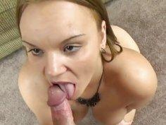 Tonya Sinn shows off her awesome blowjob skills