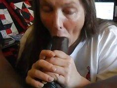 Amateur mature wife sucking bigblack cock