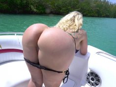 Ryan Conner demonstrates her amazing big ass on the boat