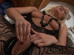 Slim blond head Sophie Moone is a slutty wanker playing with a dildo