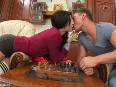 Sucking dick is so much better for Lena Love than playing chess