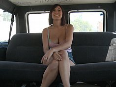 Car sex with a big tits spanish whore