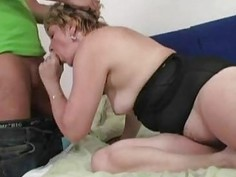 Young fucker for a mature tart