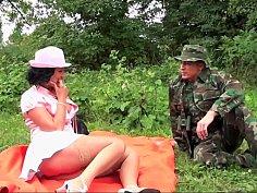 Piss poor outdoors sex