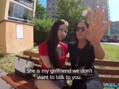 Cute European lesbian teen is hungry for dick
