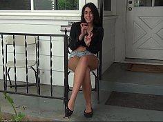 Pretty on a porch