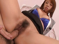 Shaggy pussy of angel from asia is drilled nicely