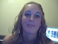 Curly not pretty blondie strips on webcam to show her too small tits