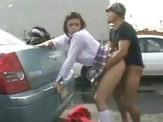 Coed Creampied by Stranger in Public!