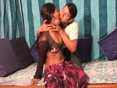 Horny dudes pleases his girl all over