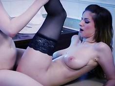 Lesbian Bree and Stella flawless climax