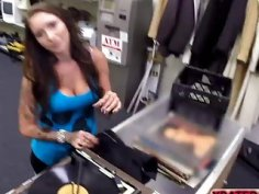 Hard pawnshop sex action with desperate collector