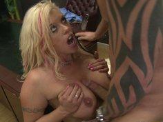 Fluffy blonde hooker Brittney Skye gets nailed by boss's huge dick